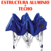 Carpa Plegable o Gazebo 3H - Estructura de Aluminio + Techo