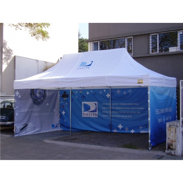 Carpa plegable o gazebo 3h estructura de aluminio techo fundasmoto online store - Gazebo plegable aluminio ...