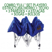 Set Playero Plegable 3H Full Estructura de Hierro Zincado