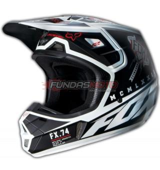 Casco Fox V2 Overseer Cross Negro Para Motocross Atv